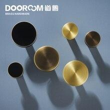 Dooroom латунные мебельные ручки скандинавские свежие китайские американские Золотые/черные/бронзовые дверные ящики для шкафа