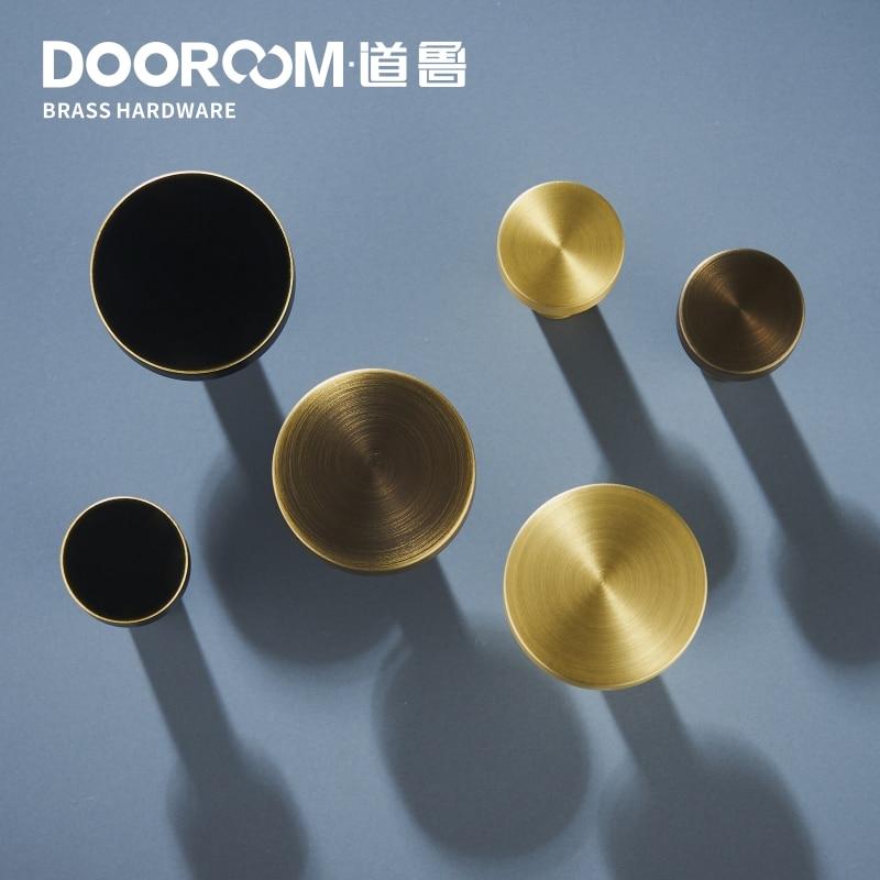 Dooroom Brass Furniture Handles Nordic Fresh Chinese American Gold/Black/Bronze Cabinet Door Drawer Wardrobe Dresser Pulls Knobs