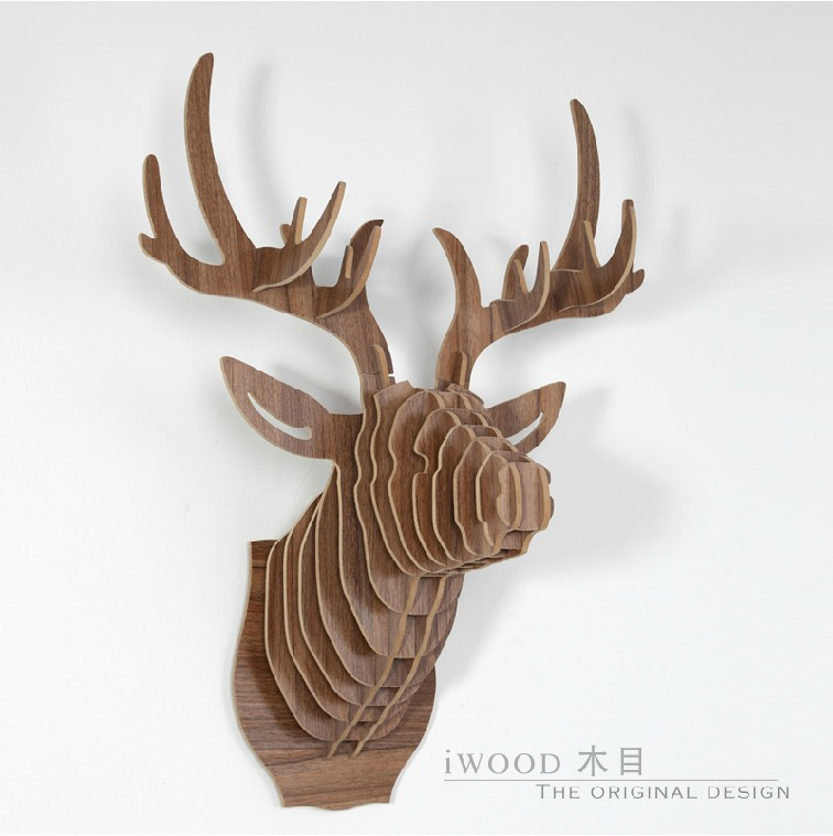 3d Diy Deer Head Creative Home Wall Decorations Christmas