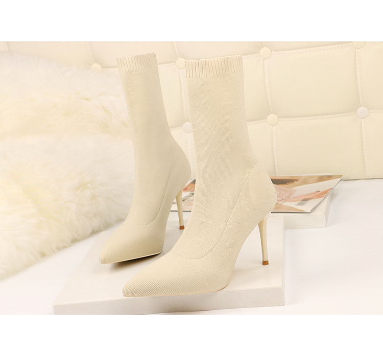 HTB1vAIraUvrK1RjSspcq6zzSXXa1 - SEGGNICE Sexy Sock Boots Knitting Stretch Boots High Heels For Women Fashion Shoes Spring Autumn Ankle Boots Booties Female