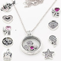 (Один Ожерелье И Любые 3 Бисер) новые Подходит Европейские Ювелирные Изделия С Логотипом 925 Стерлингового Серебра С Плавающей Медальон Кулон Ожерелье