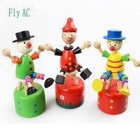 Fly AC holz-clown sitz eimer schaukel spielzeug modell nette cartoon Baby spielzeug geburtstagsgeschenk 6 teile/satz