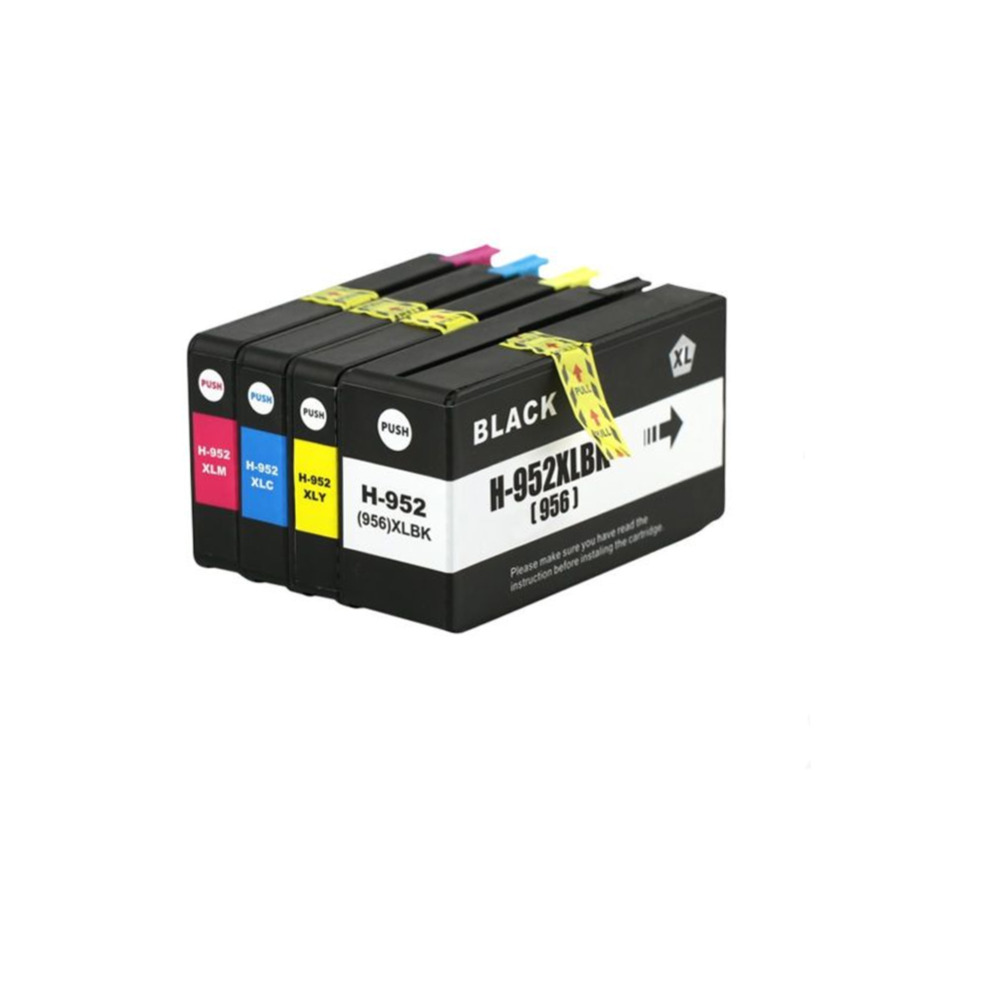 YLC 1set 952/956 XL Compatible ink cartridges For HP952/956 XL For HP Officejet Pro 8210 8216 8702 8710 8715 printer hot sales ink cartridge for hp officejet pro 7740 8210 8216 8218 8710 compatible cartridge with bk c m y original cartridge