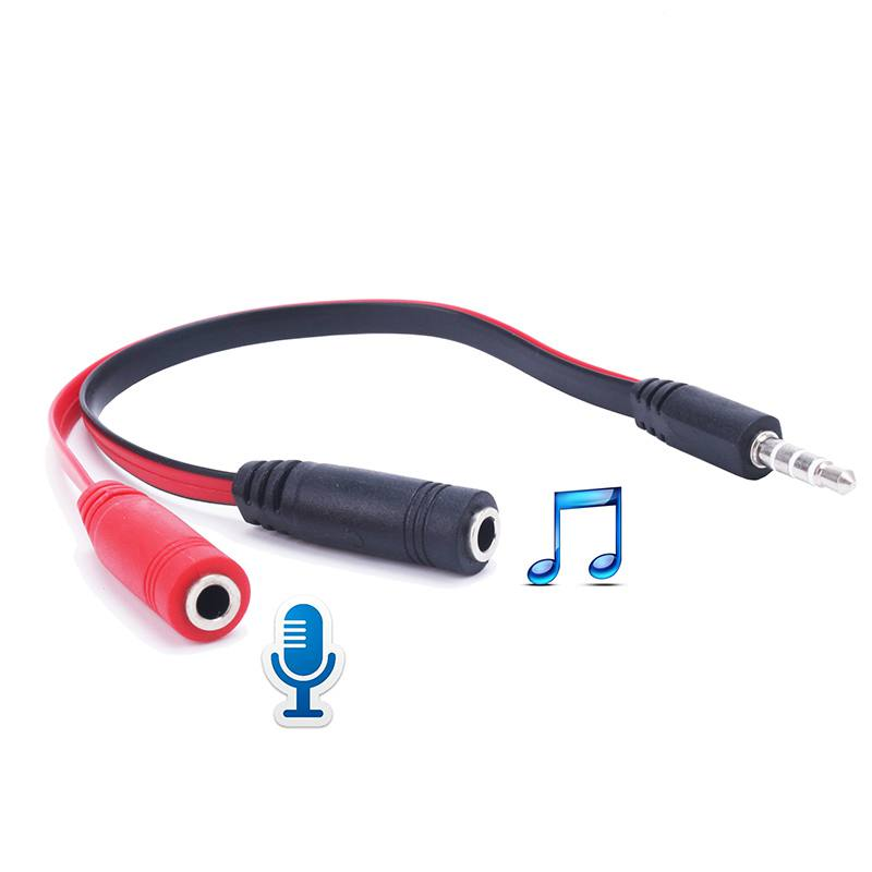 3.5mm Aux Male to 2 Female Jack Audio Splitter Cable Earphone Headset Microphone Adapter For MP3 MP4 PC Laptop Phone