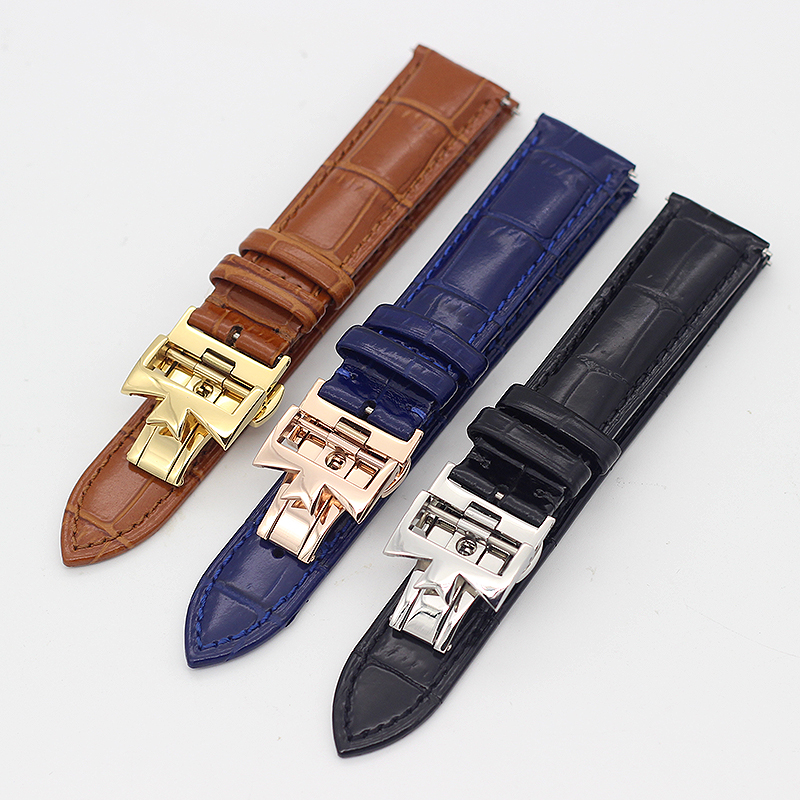 19mm 20mm 22mm Double-sided cowhide Watch Bands For Vacheron Constantin VC Watch Strap For Men And Women Cow Leather Bracelets women crocodile leather watch strap for vacheron constantin melisa longines men genuine leather bracelet watchband montre