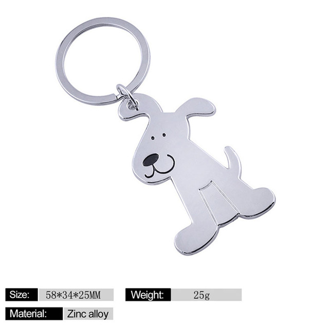 Metal cat keychains key rings fashion animal dog key chains personalized car key holder pendant women bag charms key rings