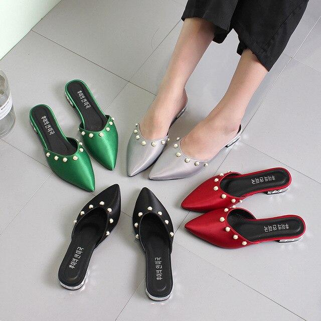 7432d4cd8c Muqing 2019 Venta caliente al aire libre al señaló zapatillas de moda de 3  cm tacones