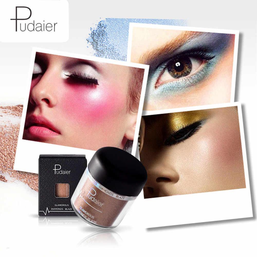 Палитра теней для век Pudaier, блестящий порошок, мерцающие пигменты, тени для век для женщин, Косметика для макияжа, пудра, палитра