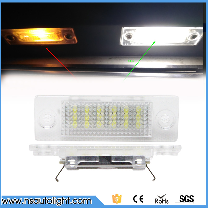 Auto part car tail license light for Touran/Passat B6 Combi/Variant/Transporter LED Number License Plate Light 2X18SMD No Error free shipping 2x no error led license plate light for mazda cx 7 speed 6 mazda 6 car styling auto parts accessories auto led