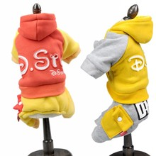 Autumn winter  pet dog clothes Printed Letter dog jumpsuit teddy chihuahua small dog clothing XS S M  L XL XXL цена