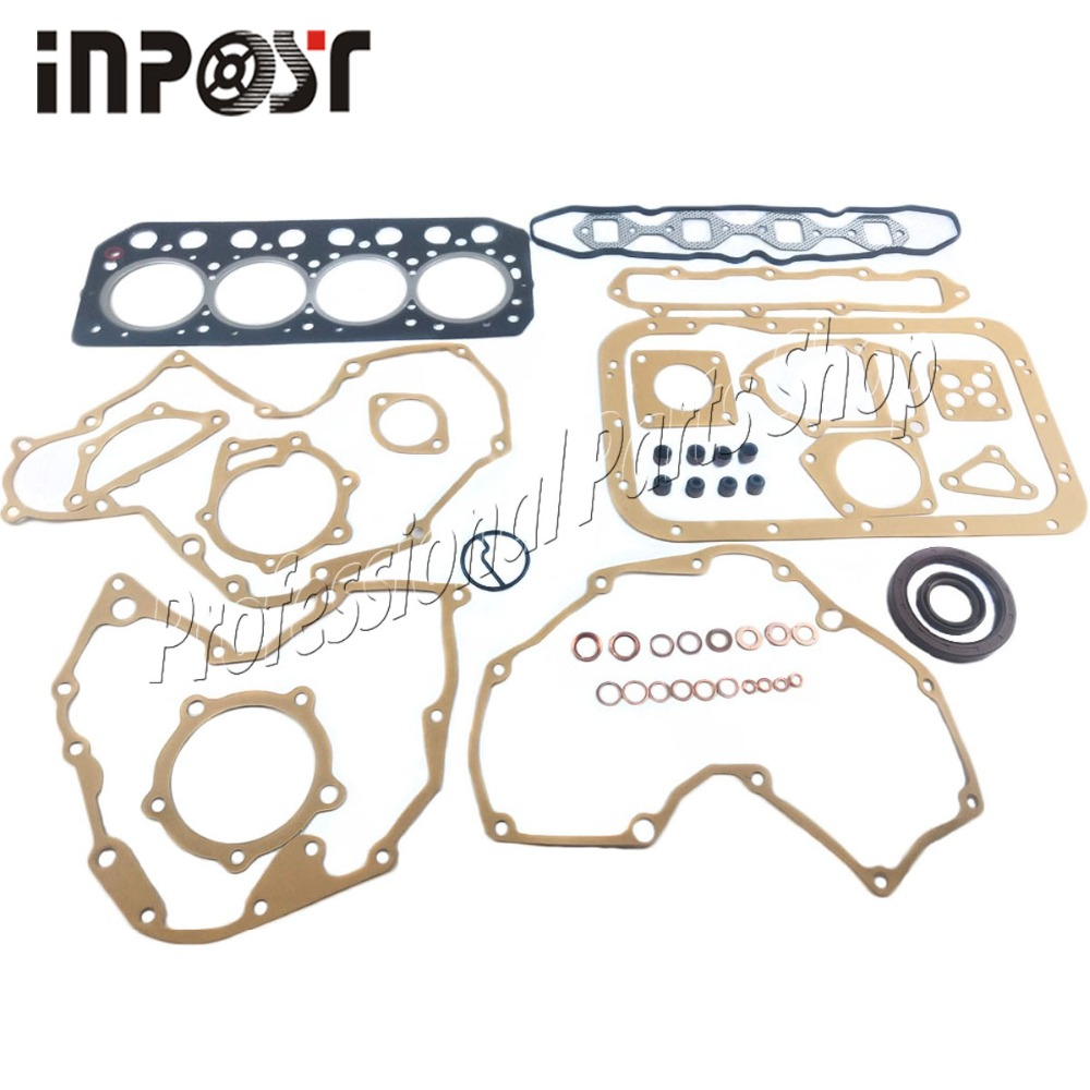 For Mitsubishi S4L S4L2 Gasket Kit Complete 78mm Bore 4 Cylinder 31A94-00081 31A01-33300