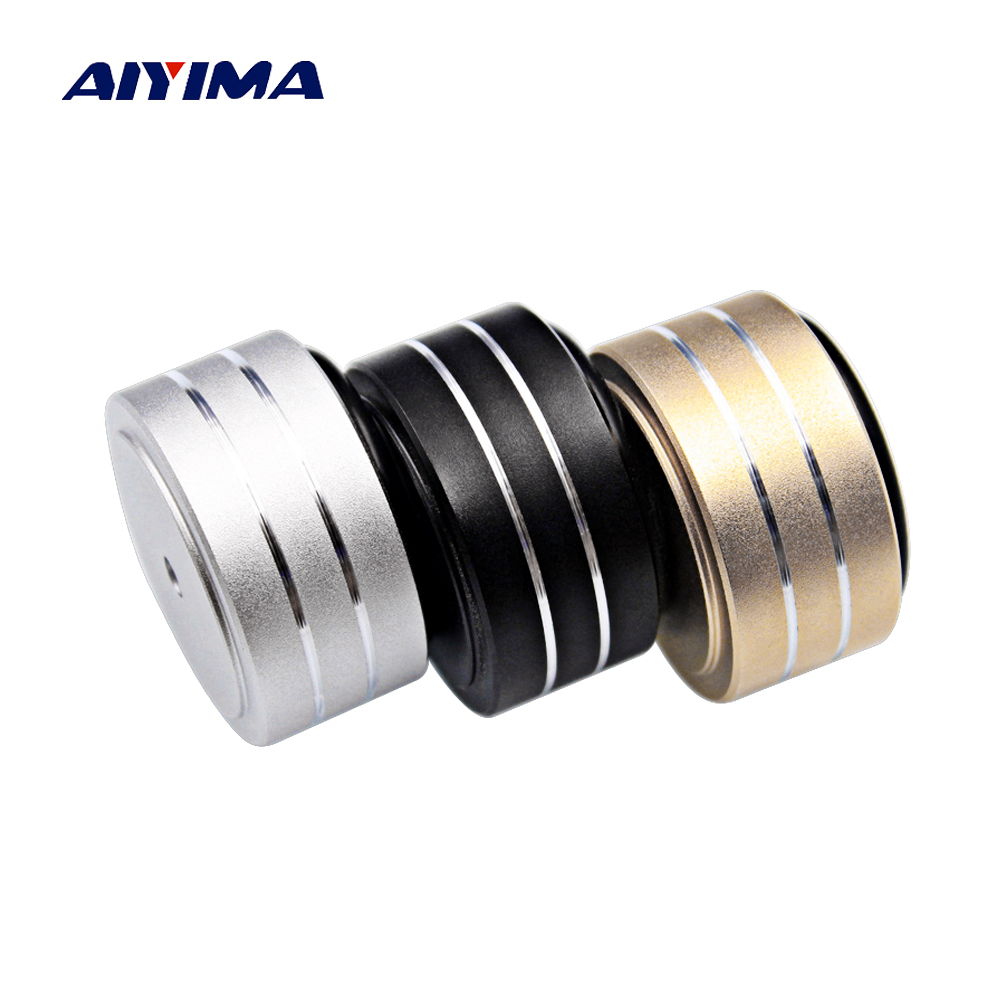 AIYIMA 4Pcs 40*20mm Speaker Spikes Foot Pads Active Speakers Case Shock Speaker Repair Parts Accessories DIY For Home Theater free shipping copper colour b1 speaker shock speaker spikes