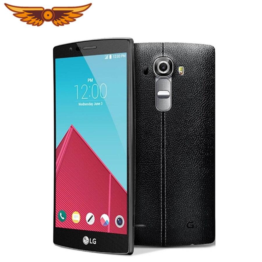 Lg smartphone g4, telefone celular, h815, h811, h810, desbloqueado, 5.5 polegadas, hexa core, 3gb ram, 32gb rom, câmera 16.0mp, 1080p celular remodelado