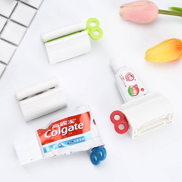 Convenient Toothpaste Squeezer Stand Holder Bathroom Accessories