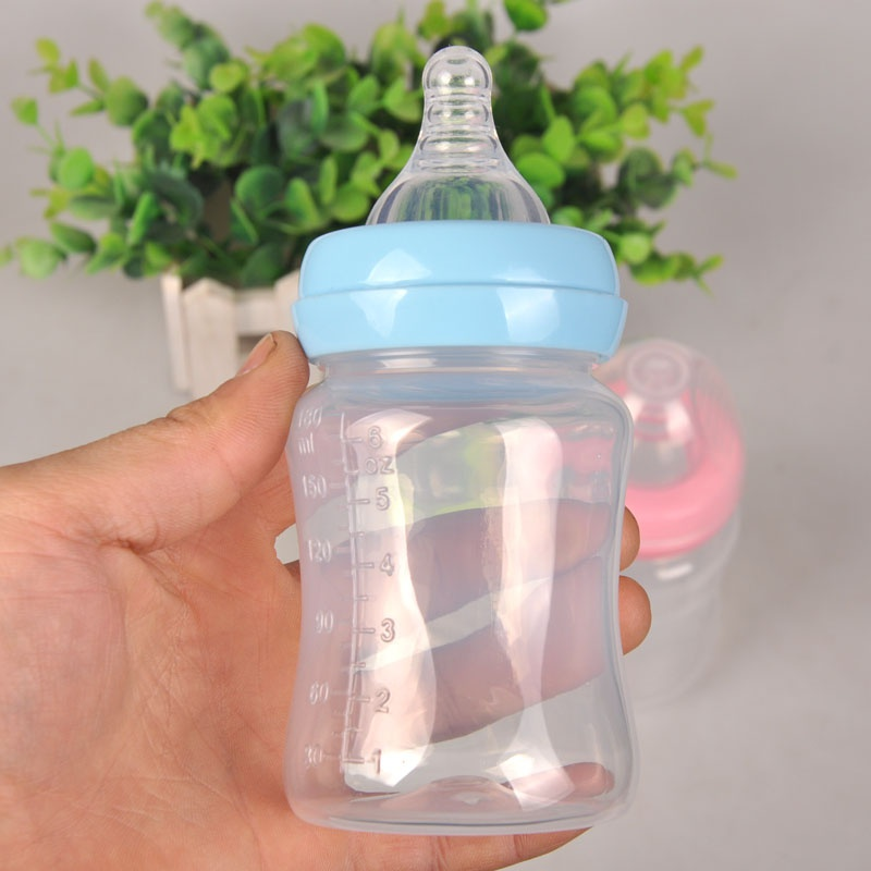 180ml Silicone Baby Infant Bottle Nipple Bottles Newborn Juice/Water Kids Feeding-bottle Nursing Feeding
