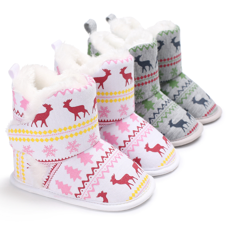 Winter Baby Girl Jongen Laarzen Zuigeling Warme Zachte Bodem - Baby schoentjes - Foto 6