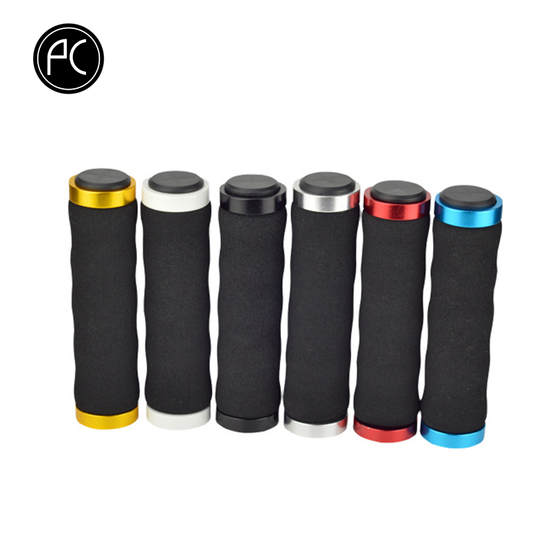 PCycling Bicycle Grips Ergonomics Sponge Cycling Handlebar Grips MTB Road Bike Bicycle Fixed Gear Lock-on Soft Palm Grips