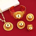 New Big Ethiopian Wedding Jewelry Set Gold Plated Eritrea Africa Habesha Jewelry For Traditional Festival