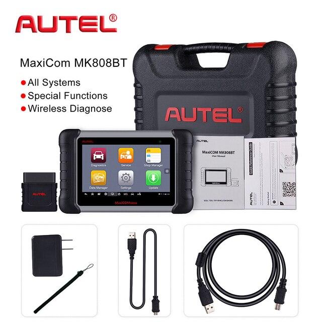 Special Price 2018 Newest Autel MaxiCOM MK808 BT Car Diagnostic Tool OBD2 Automotive Scanner Diagnosis Functions of EPB/IMMO/DPF/SAS/TMPS