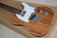 Zebra Vertical TELE Electric Guitar 21 Frets Top guitarras Silver Hardware
