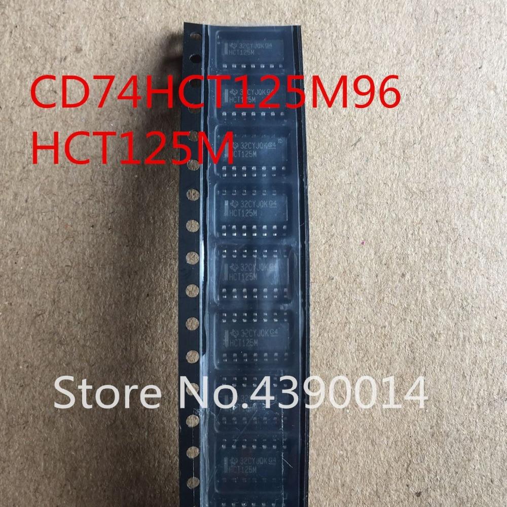 100 pcs/lot CD74HCT125M96 CD74HCT125M HCT125M IC BUFF/DVR TRI-ST QD 14 SOIC