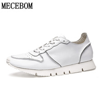 Mens Shoes Birtish Fashion Moccasins Men Casual Leather Shoes Quality Breathable Lace Up White Shoes Size