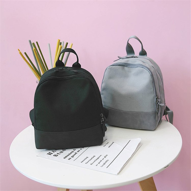 b0f163df6051 Detail Feedback Questions about Korean Vintage Womens Canvas Yellow  Backpacks Casual Small Pink Gray Daypacks Ulzzang Harajuku Cute School  Girls Travel Bag ...