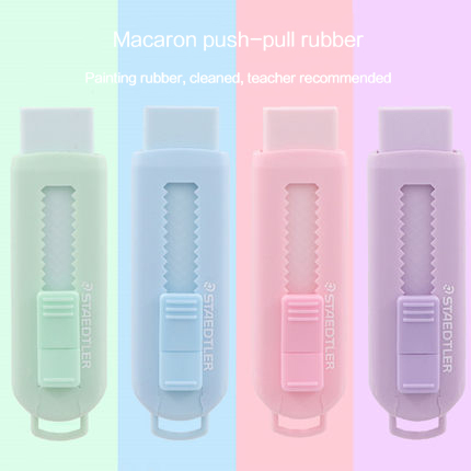 1PC Staedtler Erasers Pushable Rubber 4 Colors Macaron Refillable Pencil Erasers 525 PS1 School Stationery Kids Small Gift