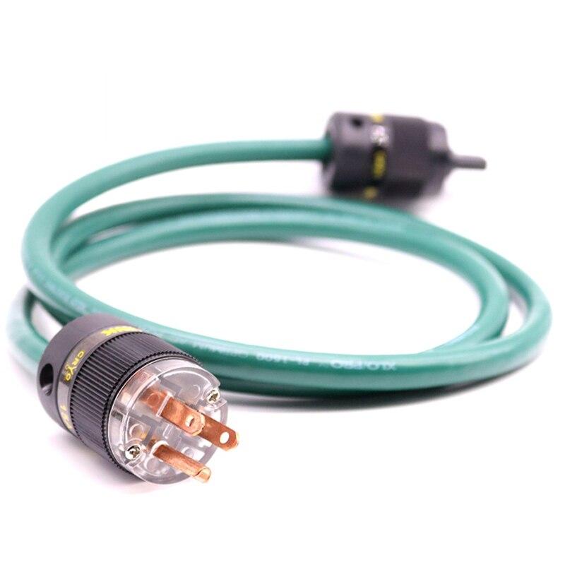Câble d'alimentation Hi-Fi XLO OFC fiche d'alimentation EU/US Figure 8 C7 connecteur IEC amplificateur lecteur CD DVD audio cordon d'alimentation ca
