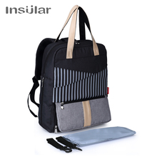 Baby Stroller Bag Insular Brand Fashion Baby Diaper Bag Mum Maternity Travel Backpack Nappy Large Capacity Mother Nursing Care цена и фото