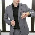 Traje para hombre trajes delgados de negocio de moda casual hebilla gris