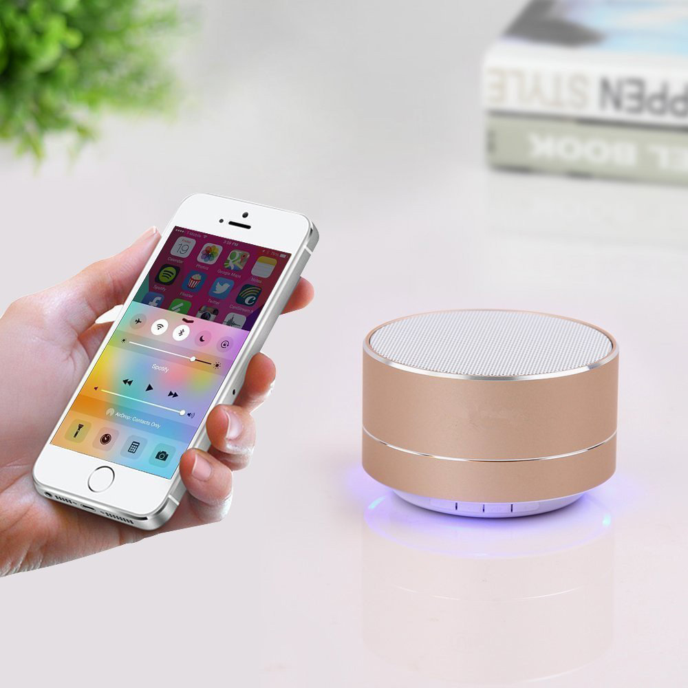 Wireless Bluetooth Speaker Mini Portable Speaker Metal Subwoofer MP3 Music Player Support TF card usb for Iphone Android phone in Outdoor Speakers from Consumer Electronics