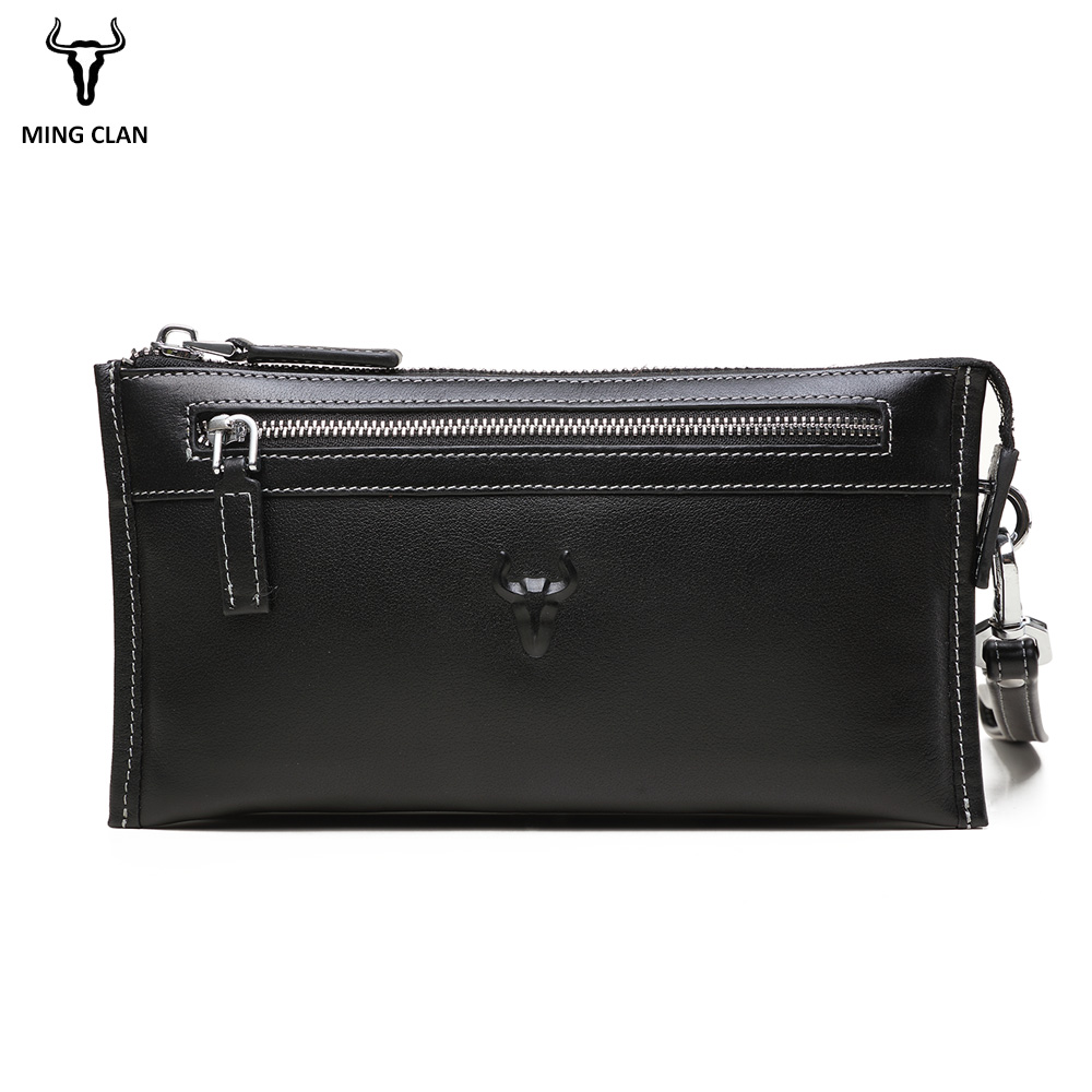 Mingclan Luxury Brand Male Leather Purse Men s Clutch Wallets Handy Bags Business Handbag Men Day