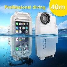 40 M 130FT Caméra Sous-Marine Plongée Boîtier Étanche pour iPhone 7 7 Plus 6 6 s Plus Résistant À L'eau Couverture de Téléphone pour le Sport De Natation