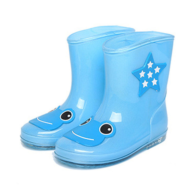 Diseño de la historieta niños estilo fashion girls botas de lluvia los niños rainboots 2017 primavera impermeable lluvia shoes para los niños