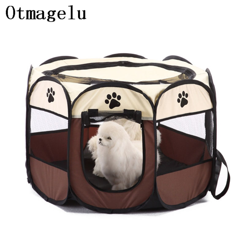 Foldable Octagon Pet Dog Cat Cage Outdoor Travel Dog Tent
