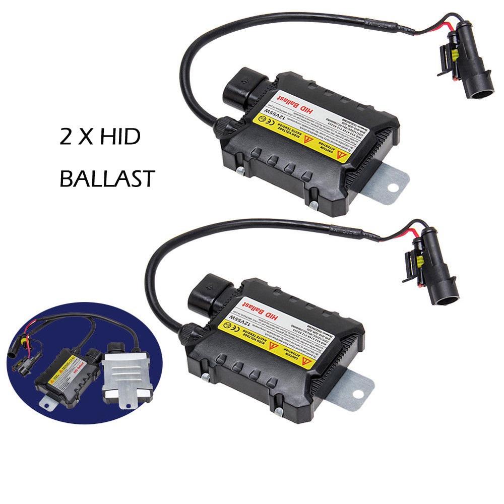 35W Ice White Bulbs 6000K Xenon HID Headlights with Slim Control Units Kit H4-3 connector