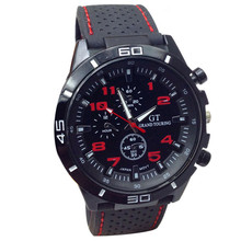 Mens Military Watches Sport Wristwatch Silicone waterproof