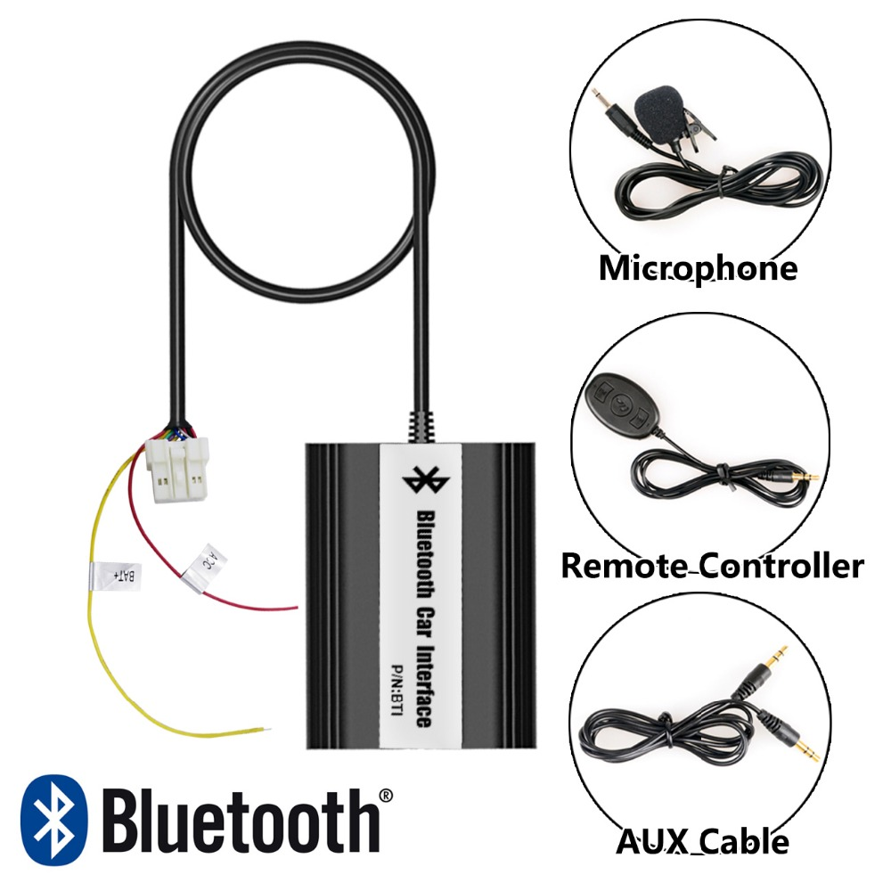 Car Stereo Bluetooth Interface Wireless Music Receiver USB AUX Jack Music Interface For Nissan