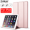 for iPad Mini 4 3 2 1 ZVRUA YiPPee Case Slim PU Leather Trifold Stand Auto Sleep/Wake up Smart Cover for mini1 mini2 mini3 mini4