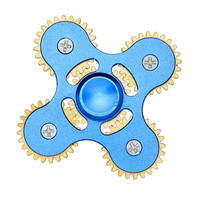 New Four Angle Five Mechanical Gear Linkage Finger Fidget Hand Spinner Alloy Fingerspinner EDC Decompression Toys