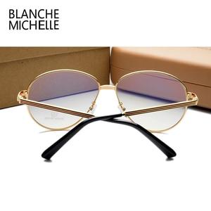 Image 5 - Lunettes de luxe pour hommes et femmes, montures de luxe en métal uni, à rayures colorées, surdimensionnées, avec boîte, nouvelle collection lunettes de mode