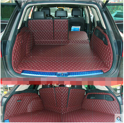 цена на High quality! Special trunk mats for Volkswagen Touareg 2017-2011 durable waterproof boot carpets for Touareg 2015,Free shipping