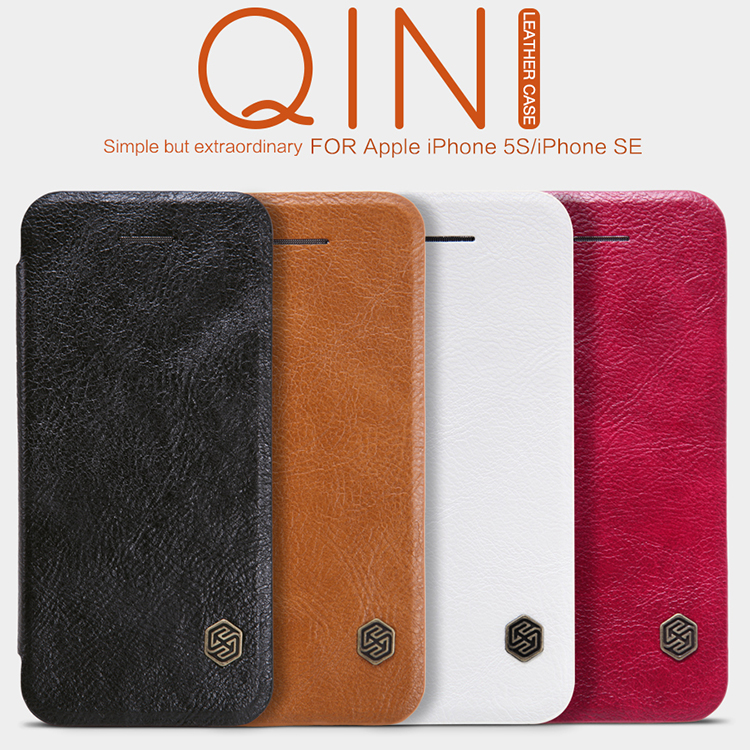 Original Nillkin Qin Series Cell Phone Leather Cases Bag for iPhone 5 5S 5SE Luxury Leather