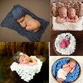 5 Estilos Da Foto Do Bebê Cobertores Cobertor de Lã De Fibra De Enchimento Cesta Trança Cesta Stuffer Fotografia Newborn Props Presente Do Chuveiro de Bebê