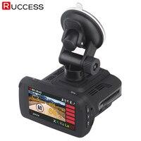 Ruccess GPS детектор радаров для России Ambarella A7LA50 3 в 1 Автомобильный видеорегистратор Камера 1296 p видеорегистратор FHD 1080 p Анти радар Speedcam