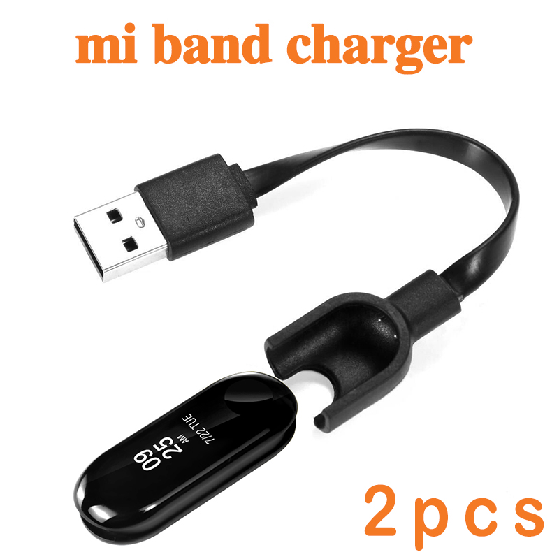 2pcs Charger Cable For Xiaomi Mi Band 3 2 Miband Smart Wristband Bracelet for mi band Charging cable USB Line