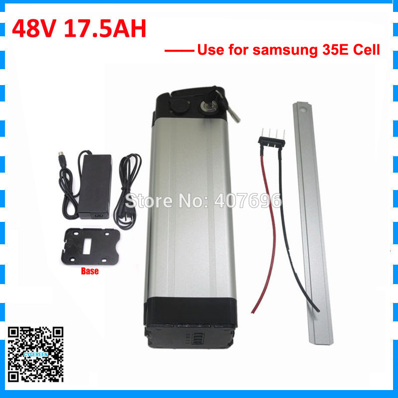 Free customs duty 1000W 48v 17.5ah electric bike battery 48V 18ah battery pack 48v silver fish use samsung 3500mah cell 30A BMS Free customs duty 1000W 48v 17.5ah electric bike battery 48V 18ah battery pack 48v silver fish use samsung 3500mah cell 30A BMS