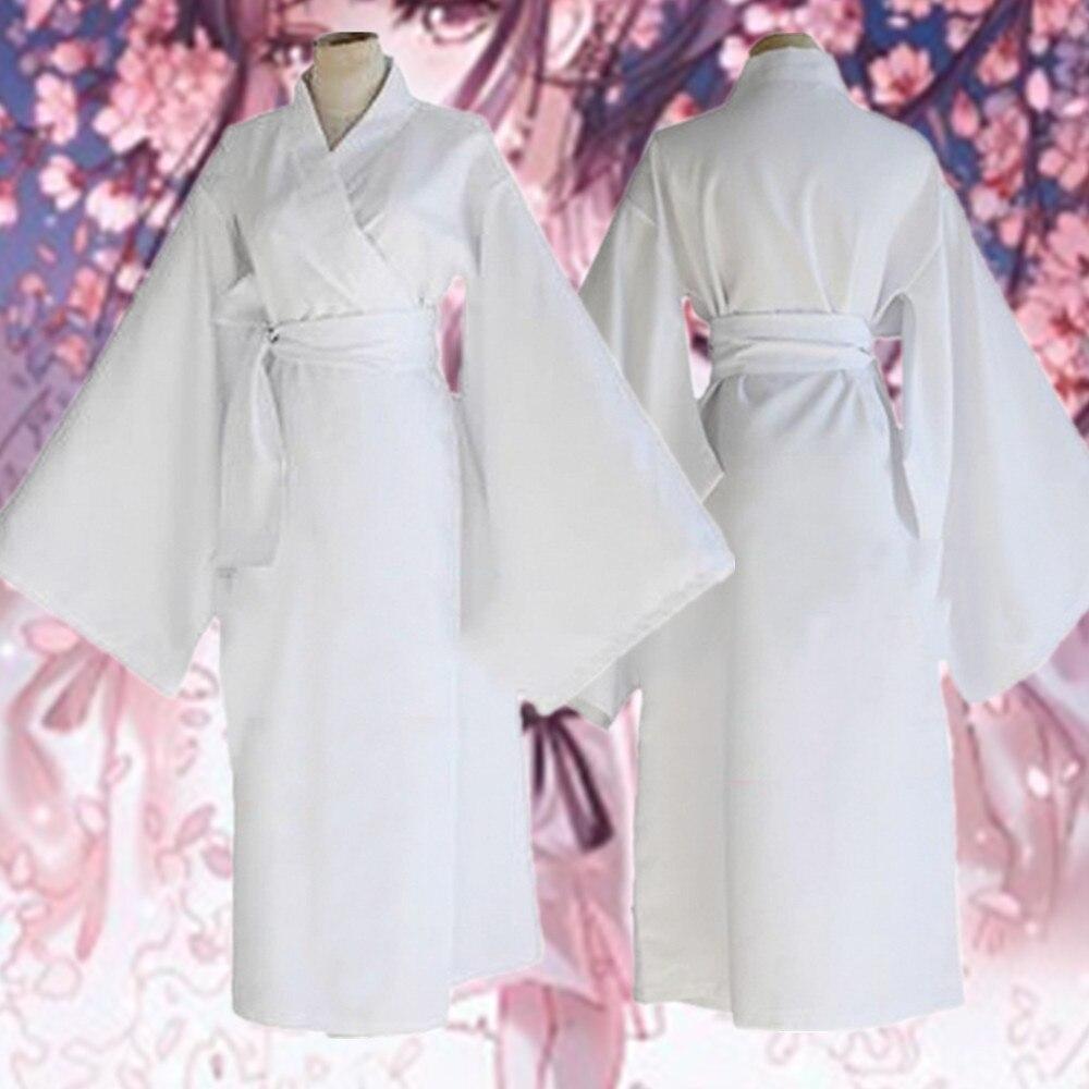 Anime Noragami Yukine Universal Summer Matsuri Men Women Unisex White Cosplay Kimono Yukata Cosplay Costume New