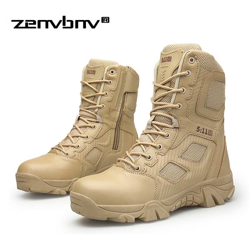 Winter Army Boots Mens Military Tactical Desert Boot Shoes Men Autumn Breathable Snow Ankle Boots Botas Tacticos Zapatos